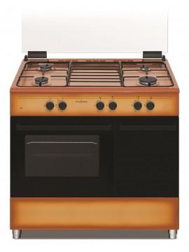 Cucina Gas Schaub Lorenz - 4 Fuochi e Forno a Gas Classe A - Colore Marrone