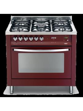 Cucina Lofra - Forno a Gas Ventilato - 5 Fuochi - Colore Rosso