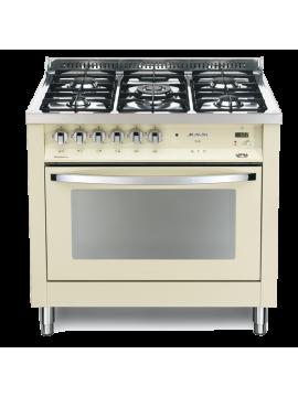 Cucina Lofra - Forno a Gas Ventilato - 5 Fuochi - Colore Avorio