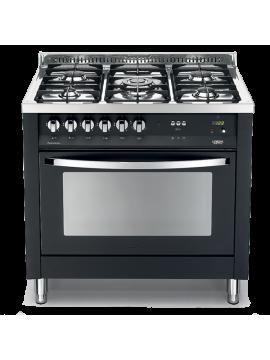Cucina Lofra - Forno a Gas Ventilato - 5 Fuochi - Colore Nero