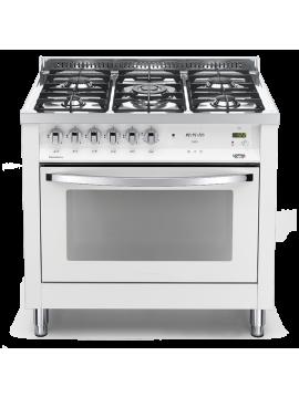 Cucina Lofra - Forno a Gas Ventilato - 5 Fuochi - Colore Bianco Perla
